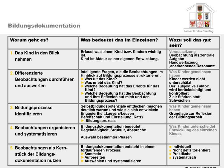 Bildungsdokumentation