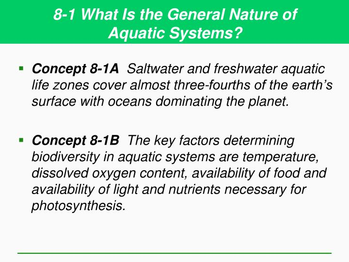 8 1 what is the general nature of aquatic systems
