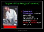 origins of psychology continued14
