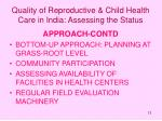 quality of reproductive child health care in india assessing the status12