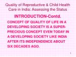 quality of reproductive child health care in india assessing the status3