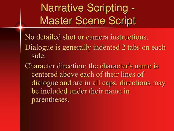 Narrative Scripting -