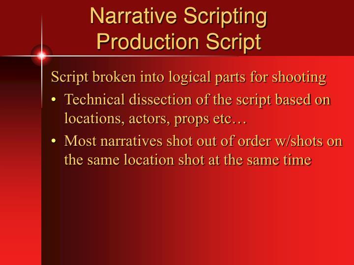 Narrative Scripting