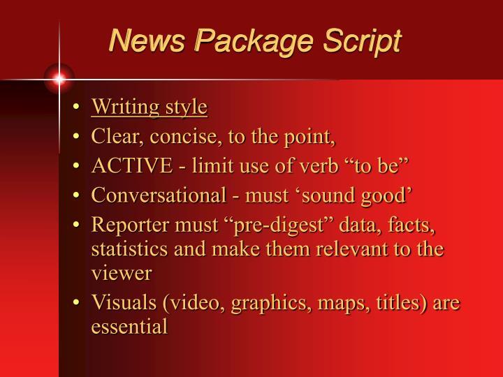 News Package Script
