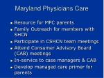 maryland physicians care
