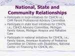 national state and community relationships