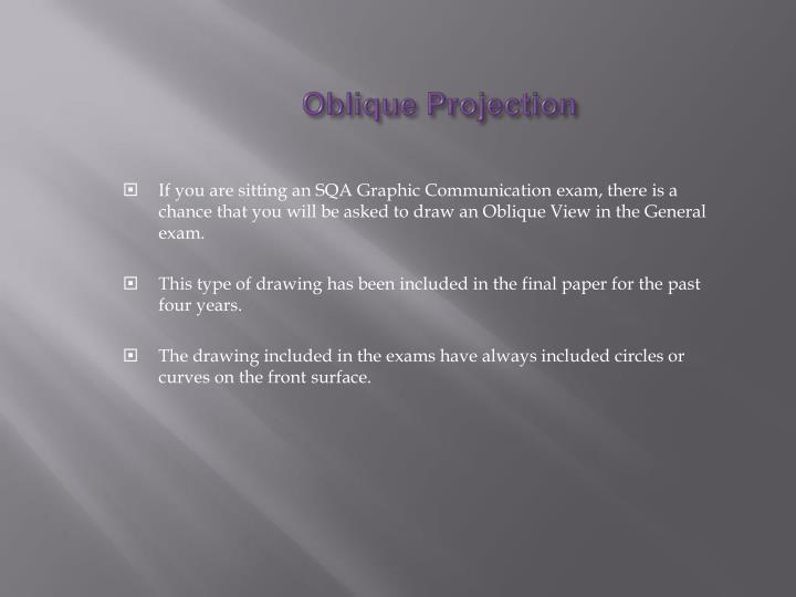 Oblique Projection