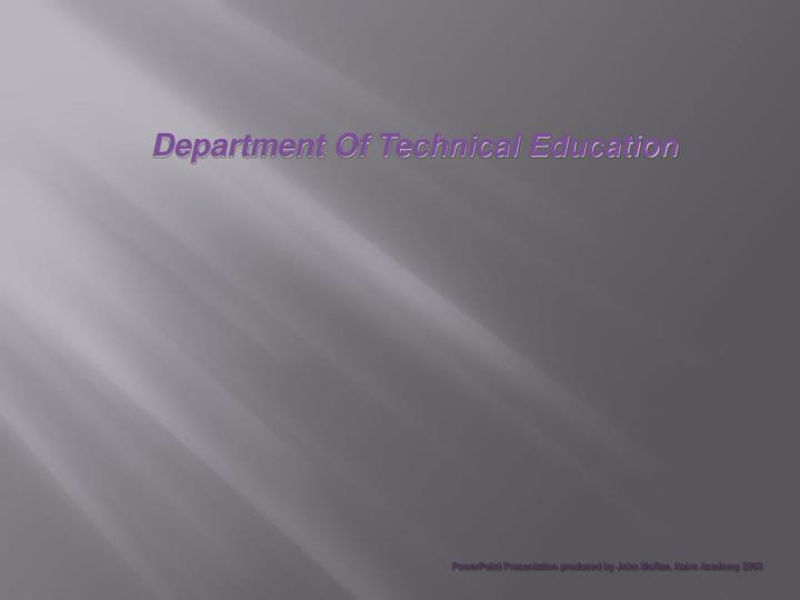 PowerPoint Presentation produced by John McRae, Nairn Academy 2003
