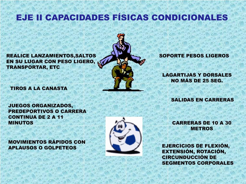 EJE II CAPACIDADES FÍSICAS CONDICIONALES