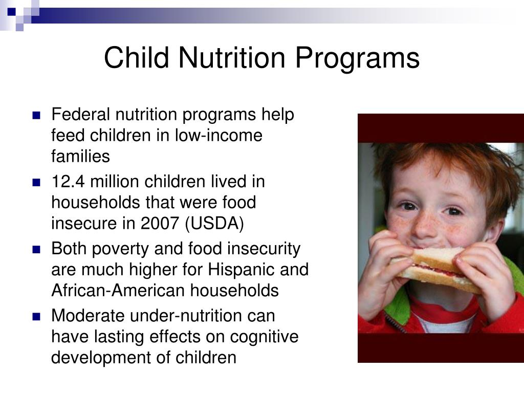 Federal nutrition programs help feed children in low-income families