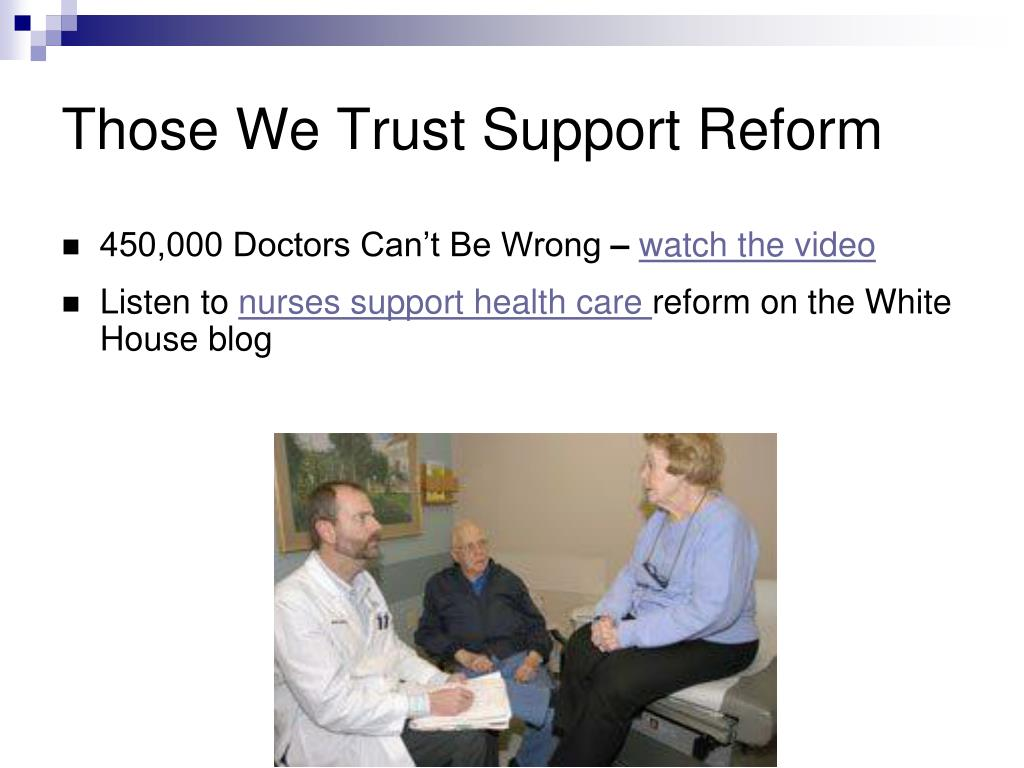 Those We Trust Support Reform