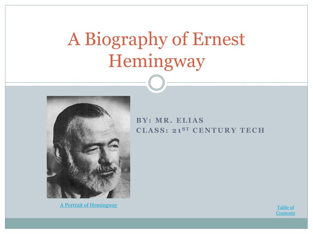 an essay on symbolism and ernest miller hemingway