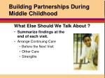 building partnerships during middle childhood