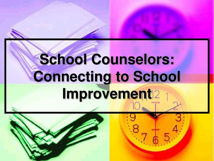 school counselor analysis The guidance and activity log is designed for school counselors to use as a source of data with time on task analysis sample counselor activity.