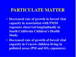 particulate matter25