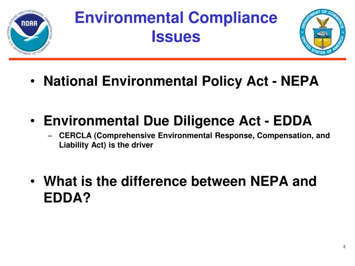 Environmental compliance issues