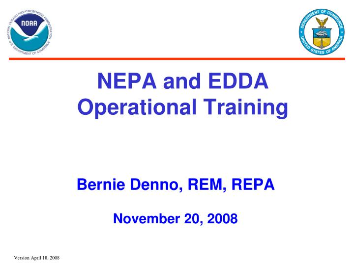 Nepa and edda operational training
