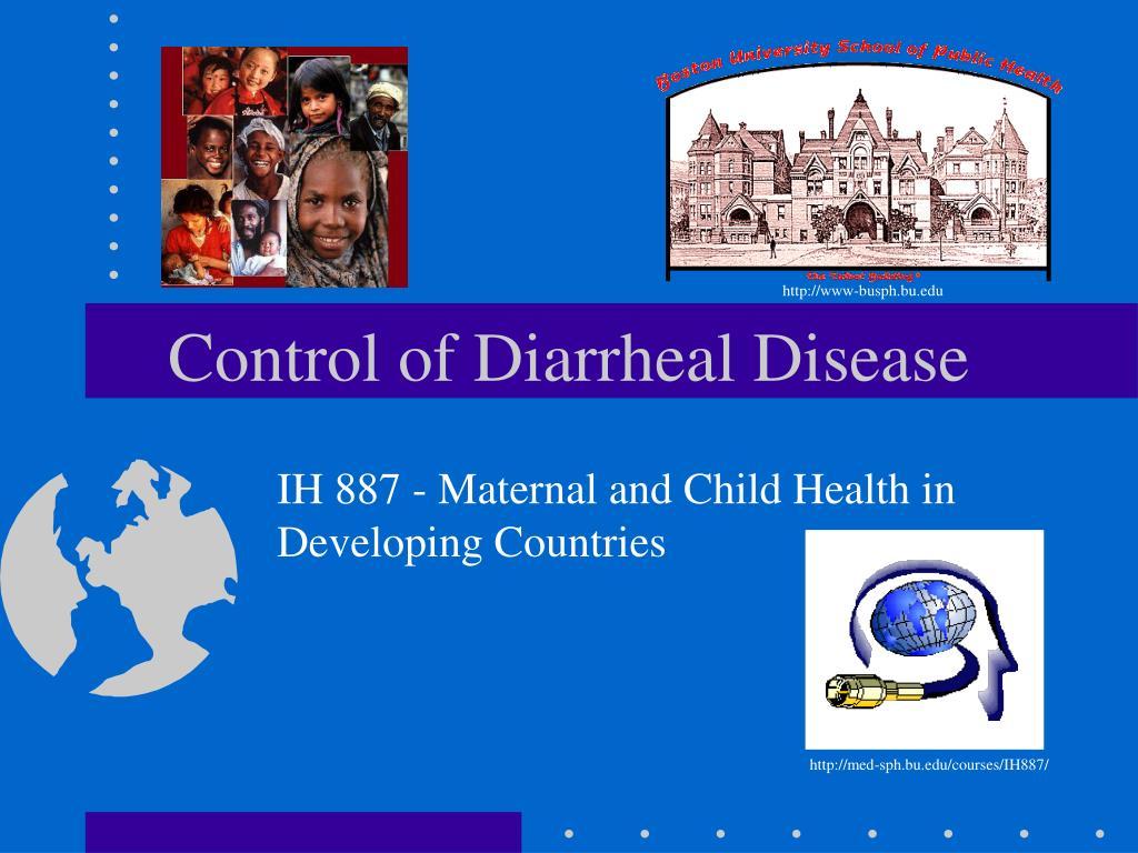 control of diarrheal disease l.