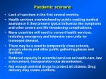 pandemic scenario