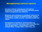 strengthening national capacity
