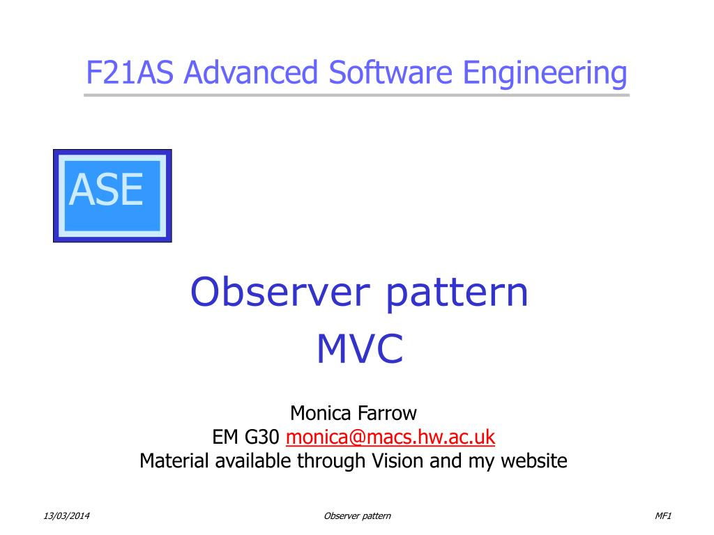 observer pattern mvc l.