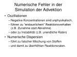 numerische fehler in der simulation der advektion