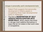 changes in personality peck s developmental tasks