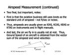 airspeed measurement continued10