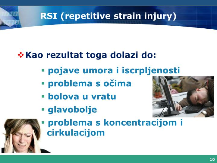 RSI (repetitive strain injury)