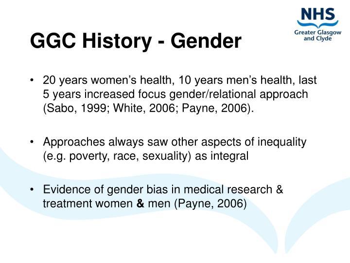 Ggc history gender