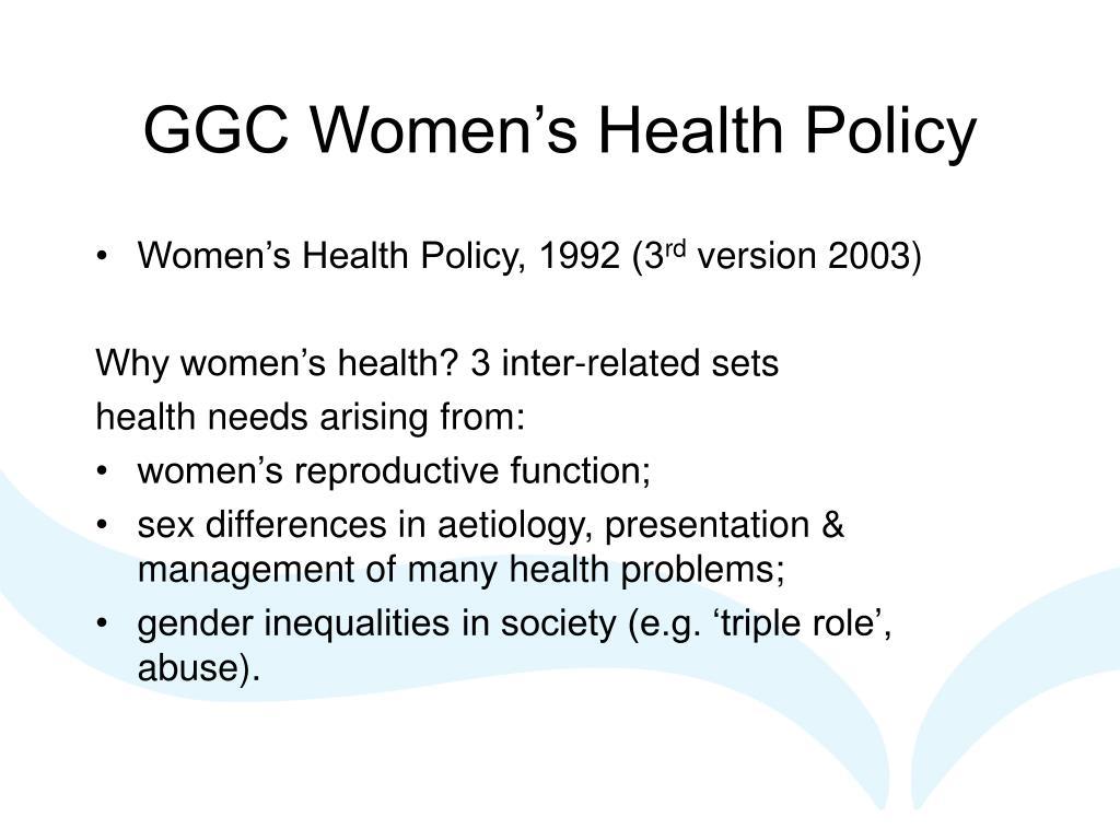 GGC Women's Health Policy
