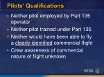 pilots qualifications