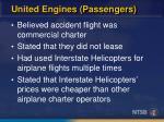 united engines passengers