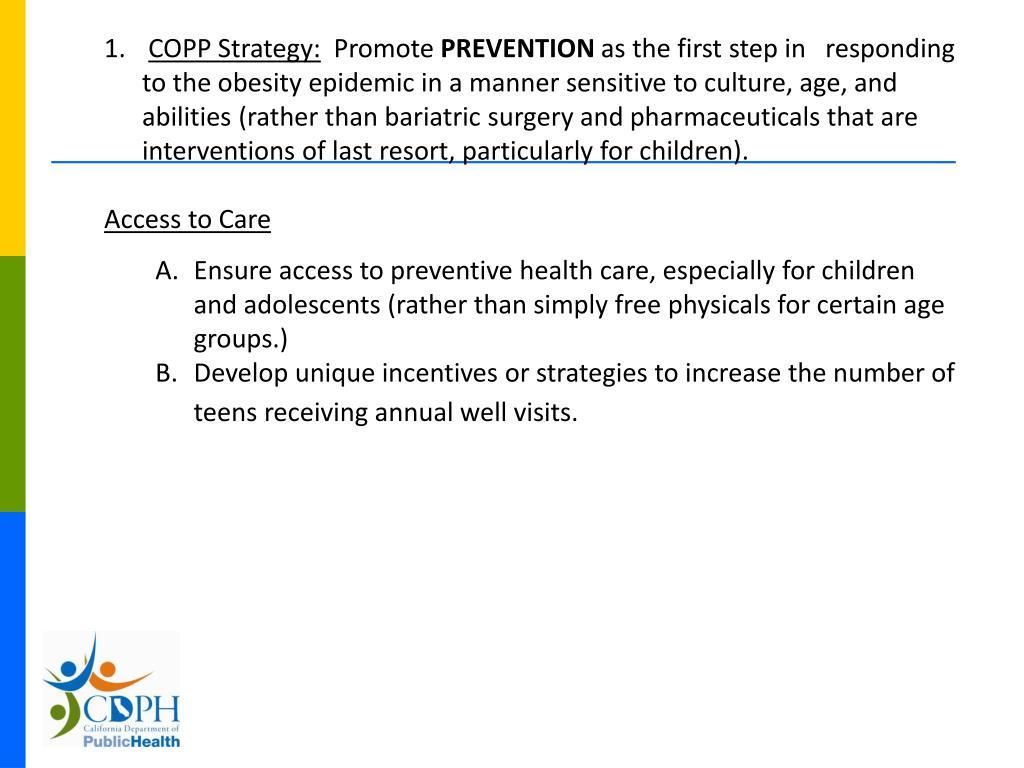 COPP Strategy: