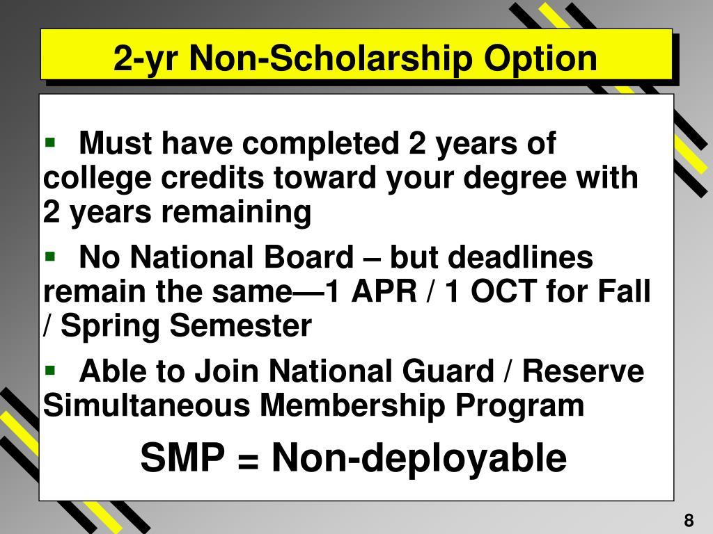 2-yr Non-Scholarship Option