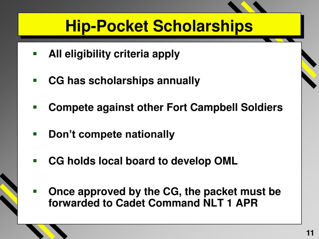 Hip-Pocket Scholarships