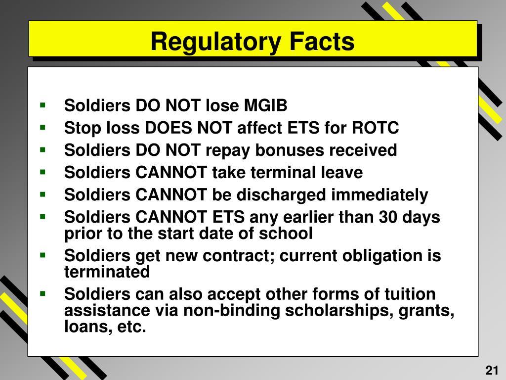 Regulatory Facts