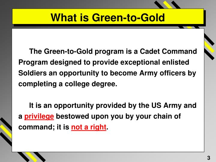 What is green to gold