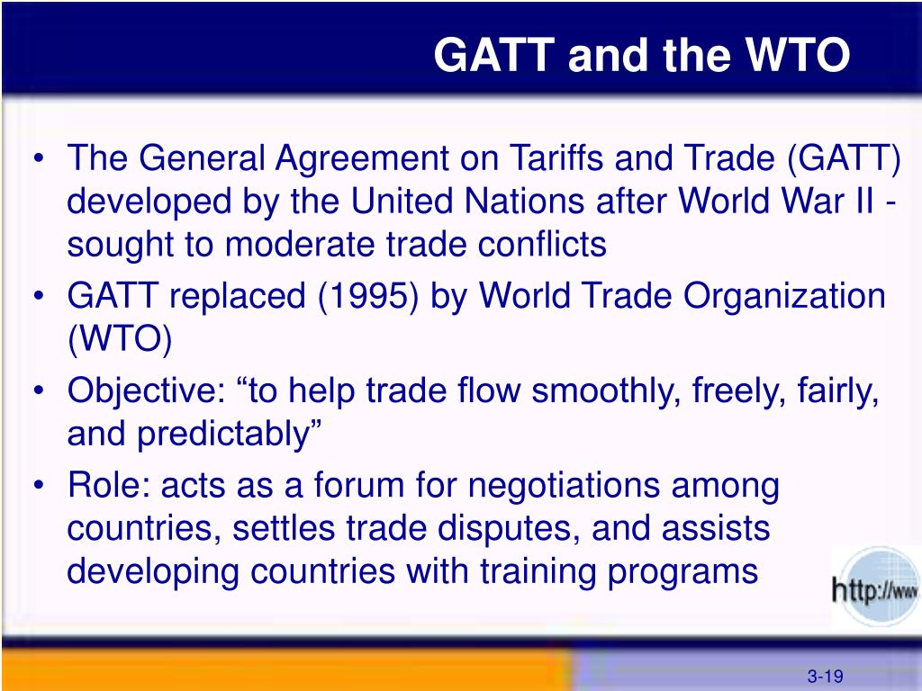 GATT and the WTO