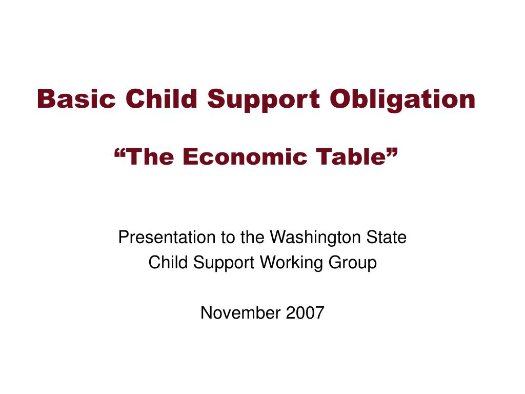 Basic Child Support Obligation