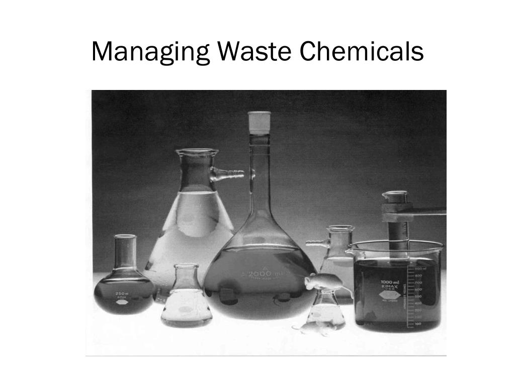 Managing Waste Chemicals