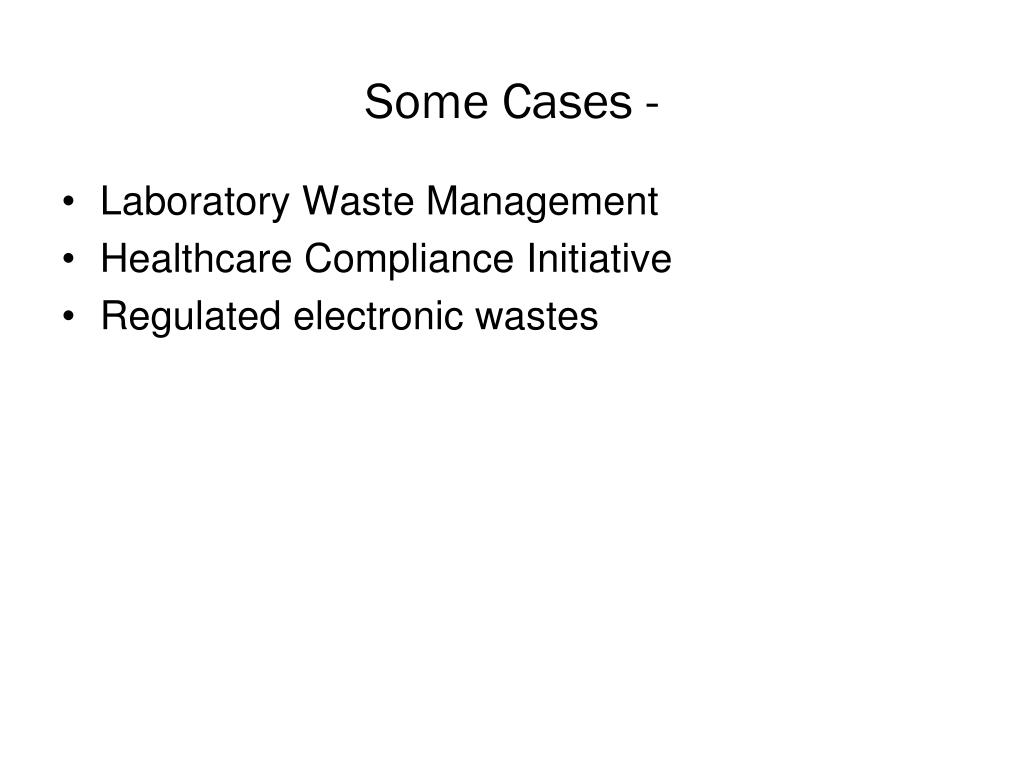 Laboratory Waste Management