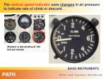 the vertical speed indicator uses changes in air pressure to indicate rate of climb or descent