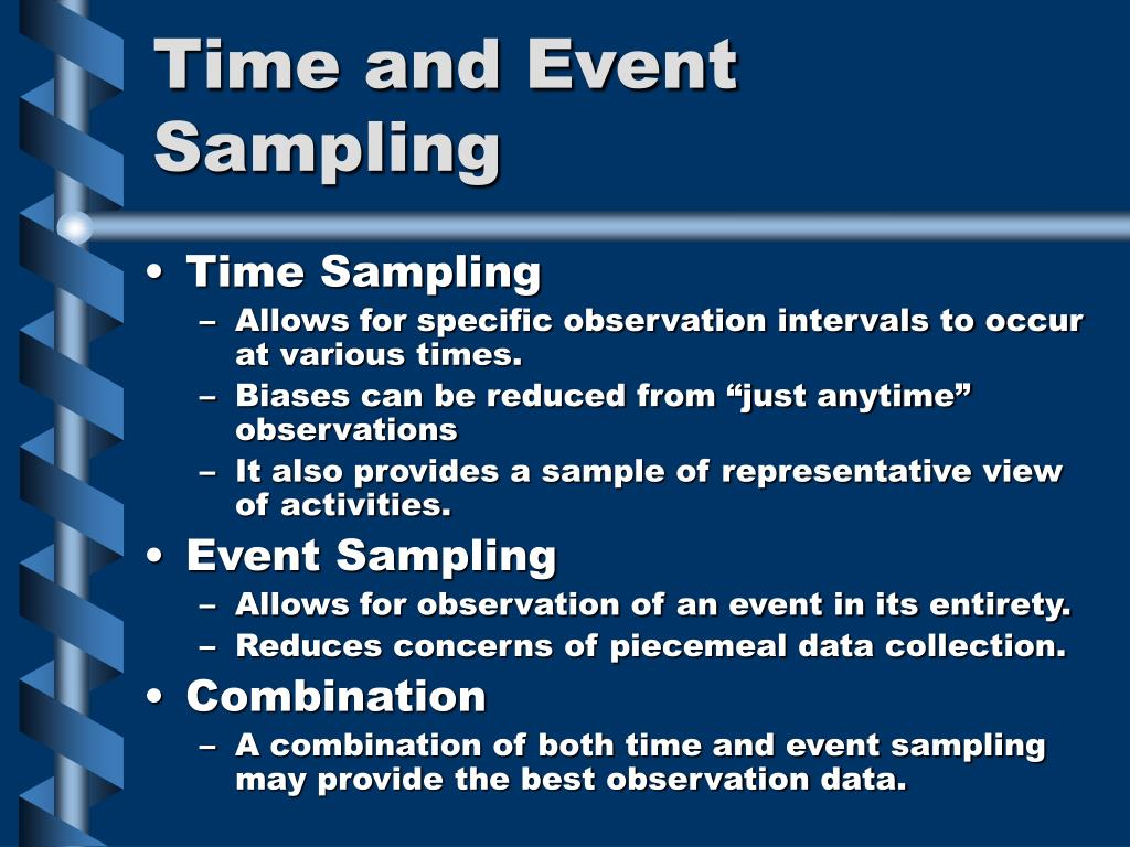 Time and Event Sampling