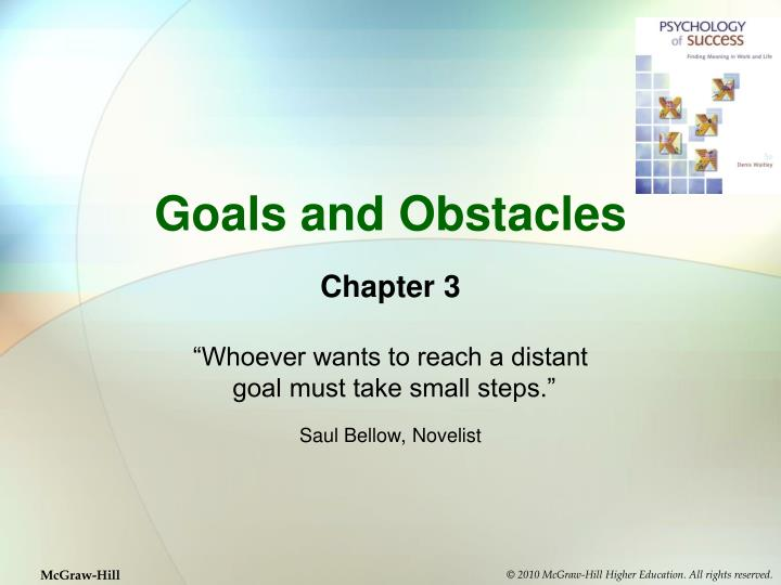 goals and obstacles n.