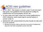acog new guidelines