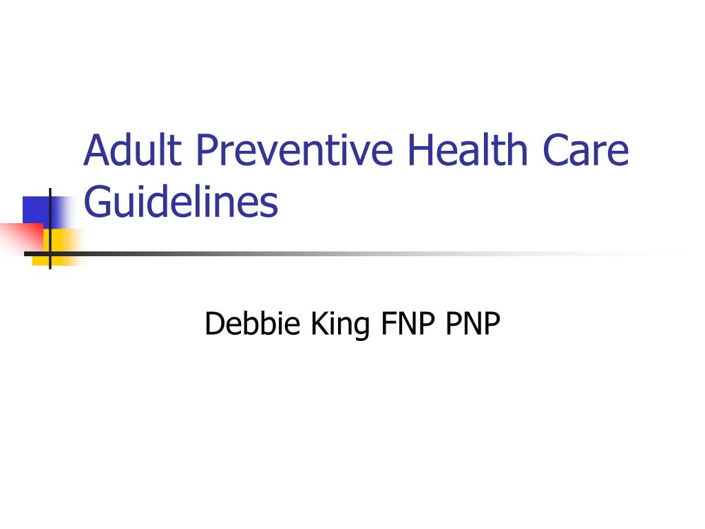adult preventive health care guidelines
