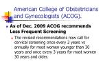american college of obstetricians and gynecologists acog