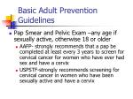 basic adult prevention guidelines36