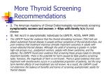 more thyroid screening recommendations